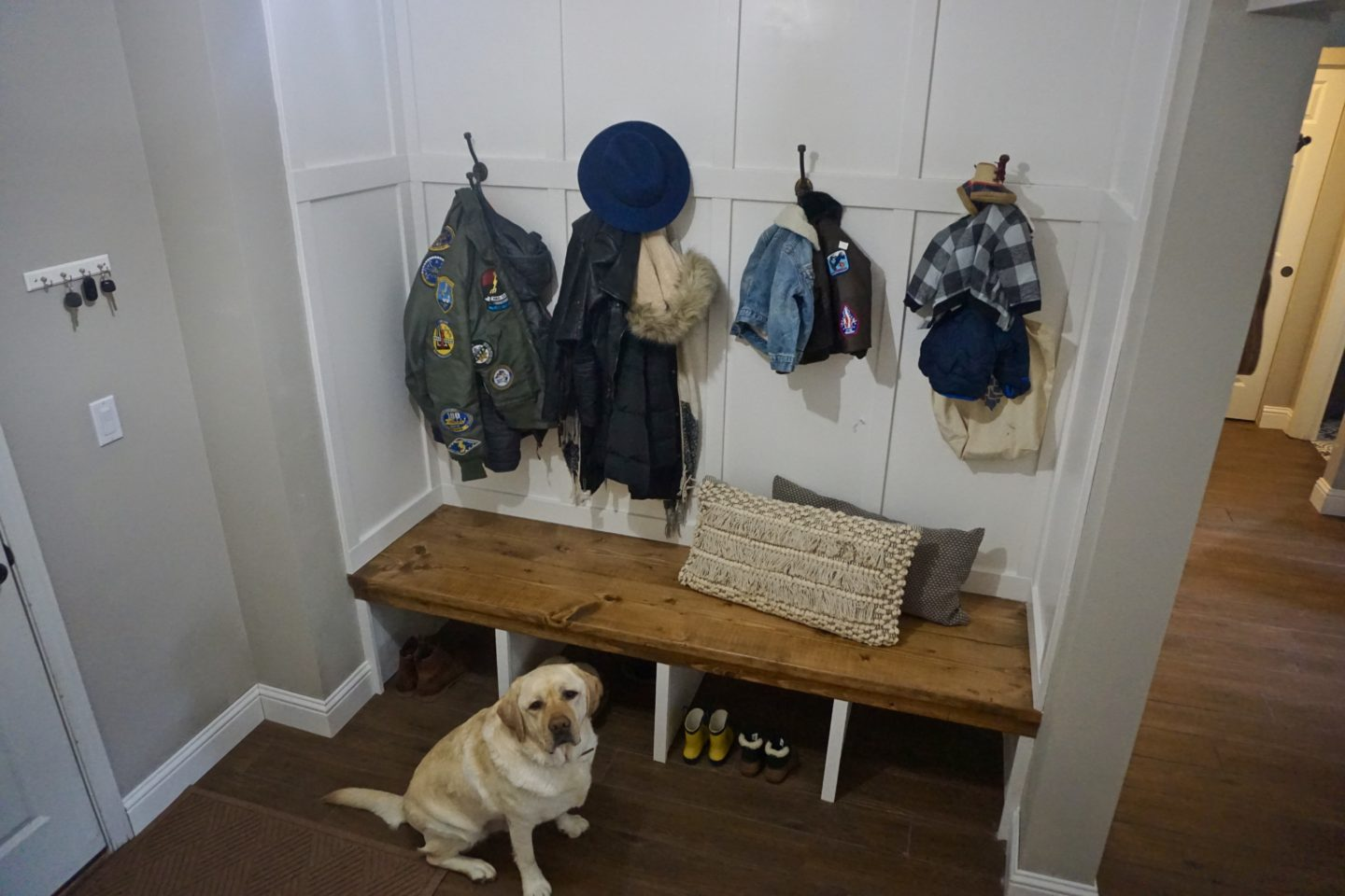 Storage Closet to Open Concept Mudroom